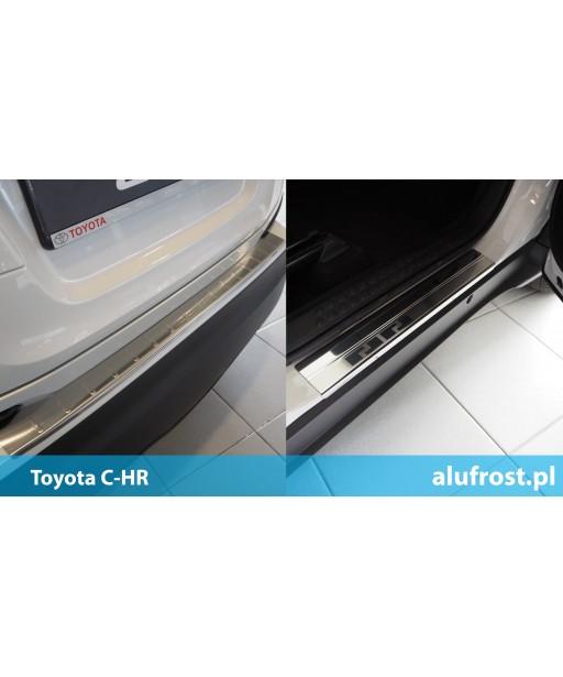 SET of door sills and rear bumper protector Toyota C-HR