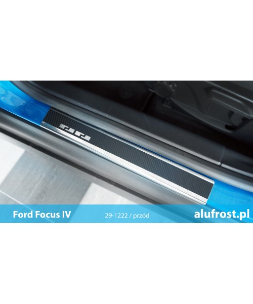 Door sills + carbon foil FORD FOCUS IV 5D