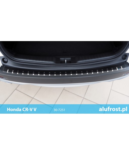 Rear bumper protector + carbon foil HONDA CR-V V
