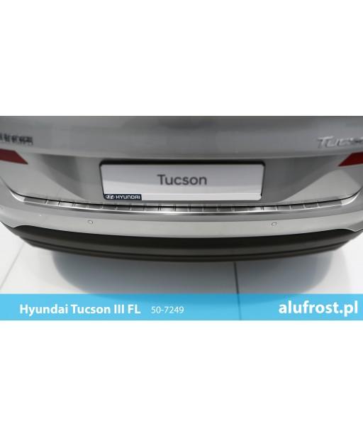 Rear bumper protector (inox) HYUNDAI TUCSON III FL