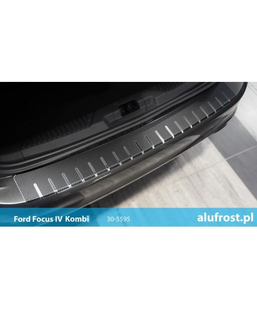 Rear bumper protector + carbon foil FORD FOCUS IV KOMBI