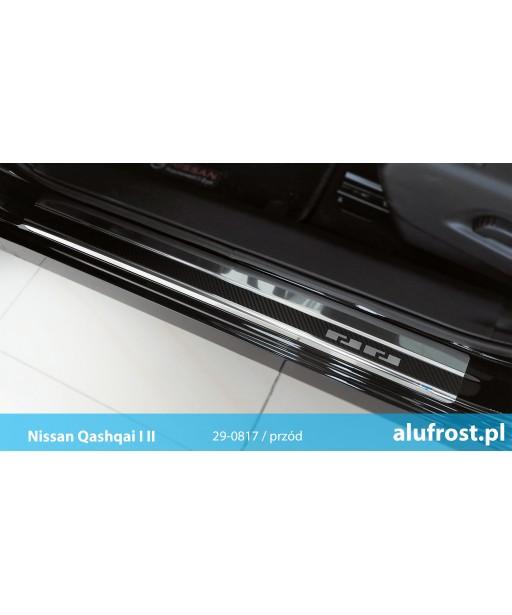 Door sills + carbon foil NISSAN QASHQAI I | II