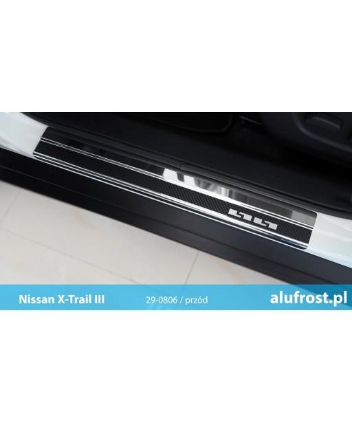 Nakładki progowe + folia karbonowa NISSAN X-TRAIL III (T32)