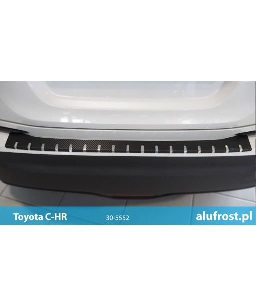 Rear bumper protector + carbon foil TOYOTA C-HR