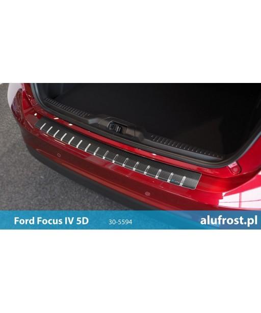 Rear bumper protector + carbon foil FORD FOCUS IV 5D