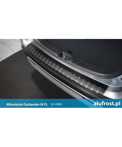 Rear bumper protector + carbon foil MITSUBISHI OUTLANDER III FL