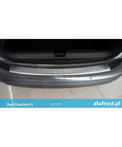 Rear bumper protector (inox) OPEL CROSSLAND X