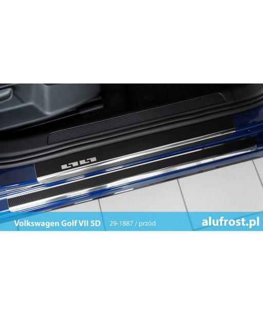 Door sills + carbon foil VOLKSWAGEN GOLF VII 5D | KOMBI