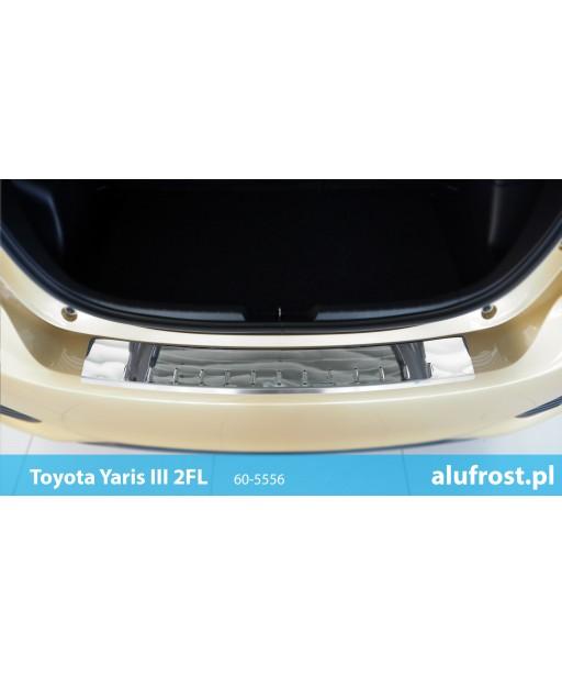 Rear bumper protector (mirror) TOYOTA YARIS III 2FL 5D