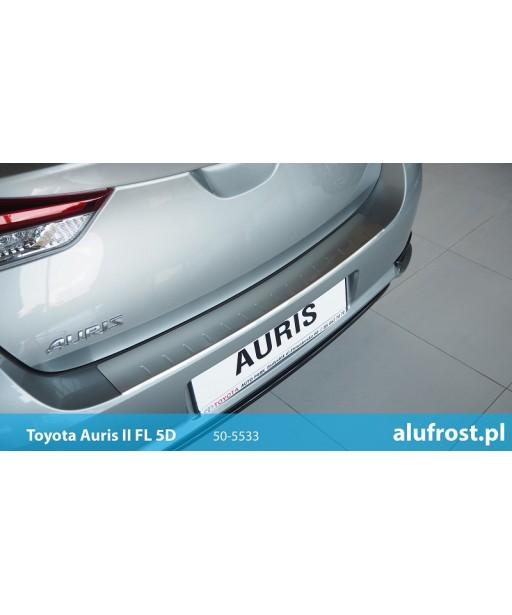 Rear bumper protector (inox) TOYOTA AURIS II FL 5D