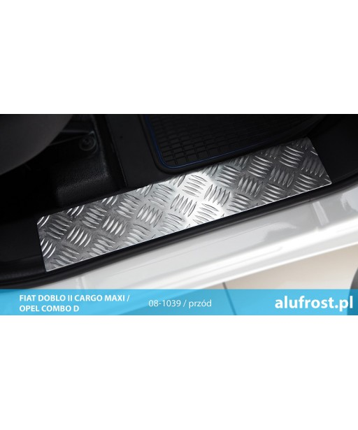 Footplates (aluminum, front) FIAT DOBLO II CARGO MAXI / OPEL COMBO D