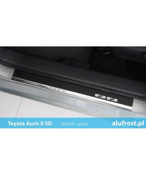 Door sills + carbon foil TOYOTA AURIS II 5D