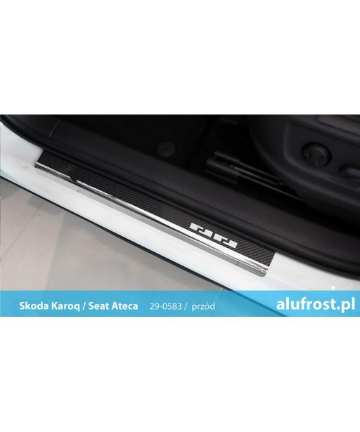 Door sills + carbon foil SKODA KAROQ / SEAT ATECA