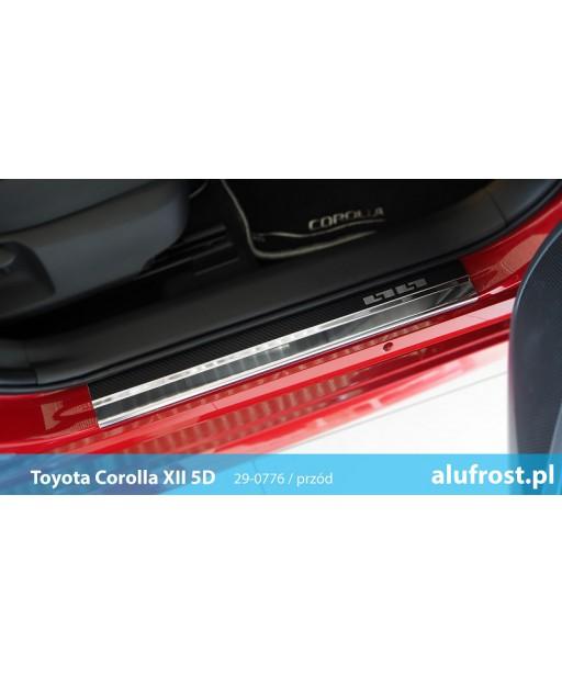 Door sills + carbon foil TOYOTA COROLLA XII 5D