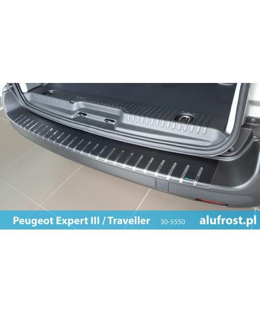 Rear bumper protector + carbon foil PEUGEOT EXPERT III / TRAVELLER