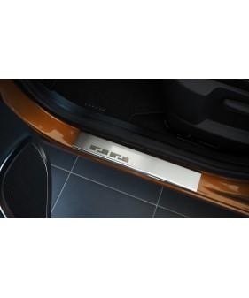 Płaska nakładka na zderzak (stal + folia karbonowa) SEAT LEON III KOMBI