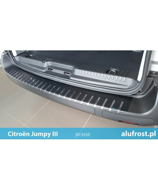Rear bumper protector + carbon foil CITROËN JUMPY III