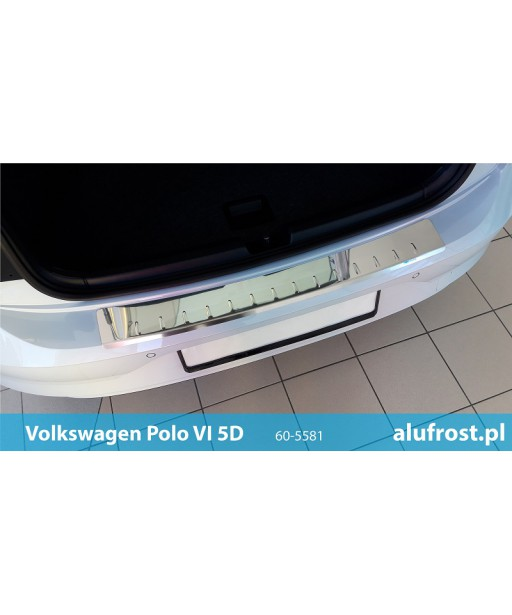 Rear bumper protector (mirror) VOLKSWAGEN POLO VI 5D