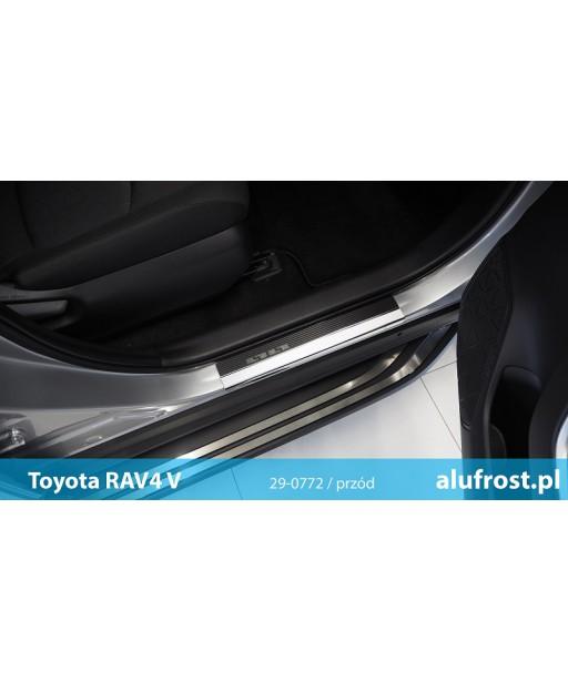 Door sills + carbon foil TOYOTA RAV-4 V