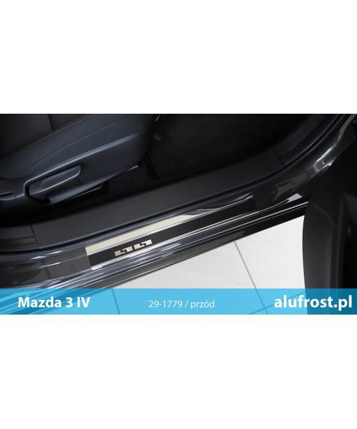 Door sills + carbon foil MAZDA 3 IV