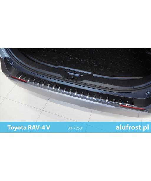 Rear bumper protector + carbon foil TOYOTA RAV-4 V
