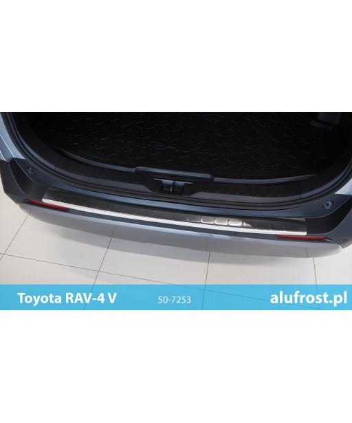 Rear bumper protector (inox) TOYOTA RAV-4 V
