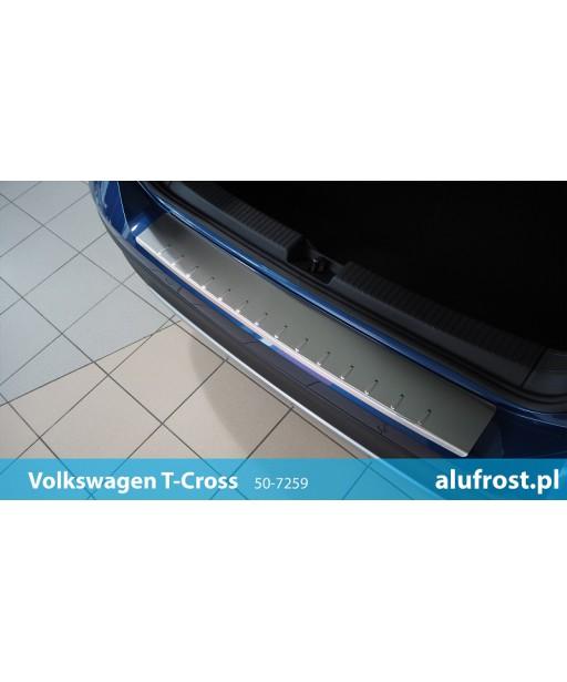 Rear bumper protector (inox) VOLKSWAGEN T-CROSS