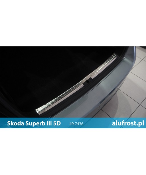 Ladekantenschutz innen aus Edelstahl SKODA SUPERB III 5D