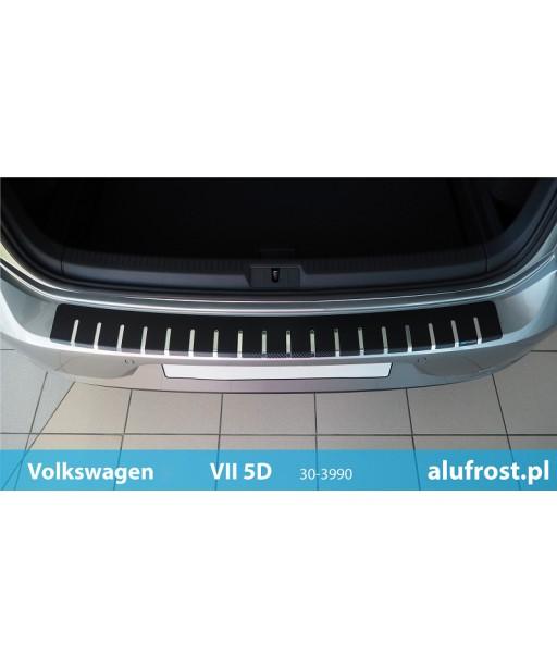 Rear bumper protector + carbon foil VOLKSWAGEN GOLF VII 5D