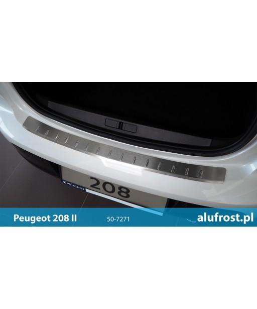 Rear bumper protector (inox) PEUGEOT 208 II